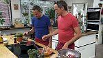 Torres en la cocina - Codornices al vino tinto y pastel de queso japonés