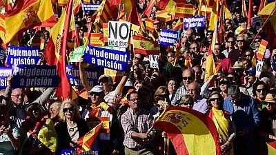 Concentración en Madrid en apoyo de la unidad de España