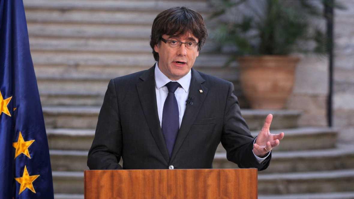 """Puigdemont llama a la """"oposición democrática"""" al artículo 155"""