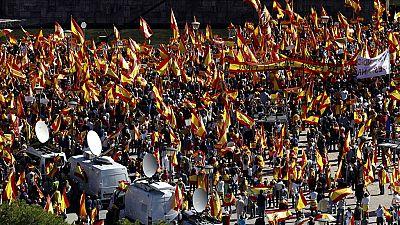 Concentración en la Plaza de Colón para defender la unidad de España