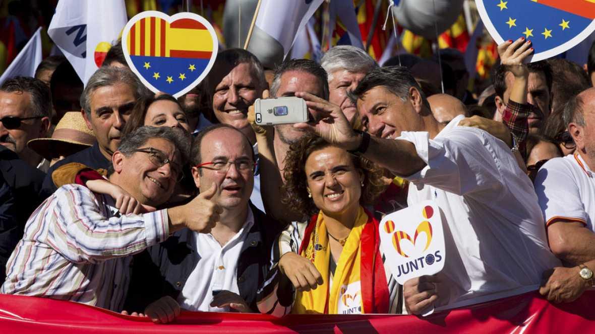 """Los líderes políticos llaman en Barcelona a """"llenar las urnas"""" el próximo 21 de diciembre"""