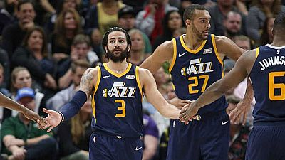 Ricky Rubio lidera a los Jazz ante Lakers; Marc Gasol y Abrines cumplen