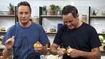 Torres en la cocina - Brochetas de albóndigas y cheesecake de caqui
