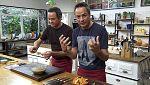 Torres en la cocina - Verdinas con setas y vieiras