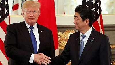 Corea del Norte y la economía centran la visita de Trump a Japón