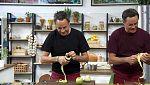 Torres en la cocina - Brochetas de cordero. Manzanas con crema de naranja