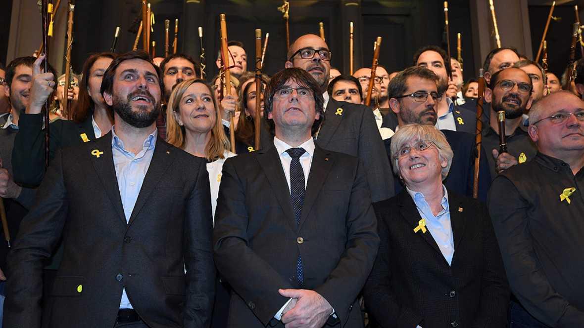 """Puigdemont carga en Bruselas contra la UE: """"¿Continuarán ayudando a Rajoy en este golpe de Estado?"""""""