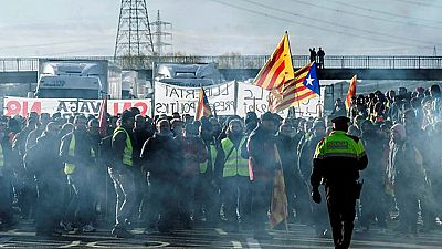 Jornada de huelga general en Cataluña convocada por la Intersindical-CSC