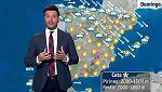 Lluvia en la cornisa cantábrica y vientos fuertes en el nordeste peninsular y Baleares