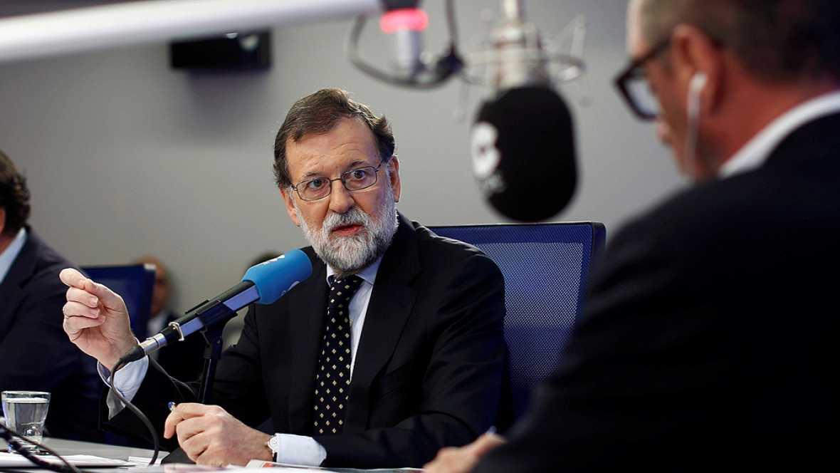 """Rajoy cree que Puigdemont y Junqueras deberían estar """"inhabilitados políticamente"""" por haber """"engañado"""""""