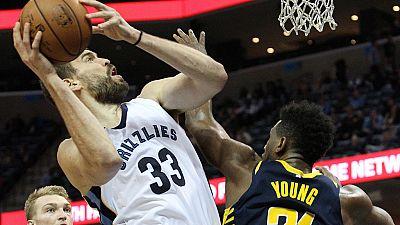 El pívot español de los Grizzlies firmó una gran actuación con un doble-doble que no pudo evitar la derrota de su equipo. También perdieron los Jazz de Ricky y los Spurs de Pau Gasol.