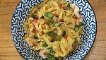 Torres en la cocina - Fetuccini con langostinos