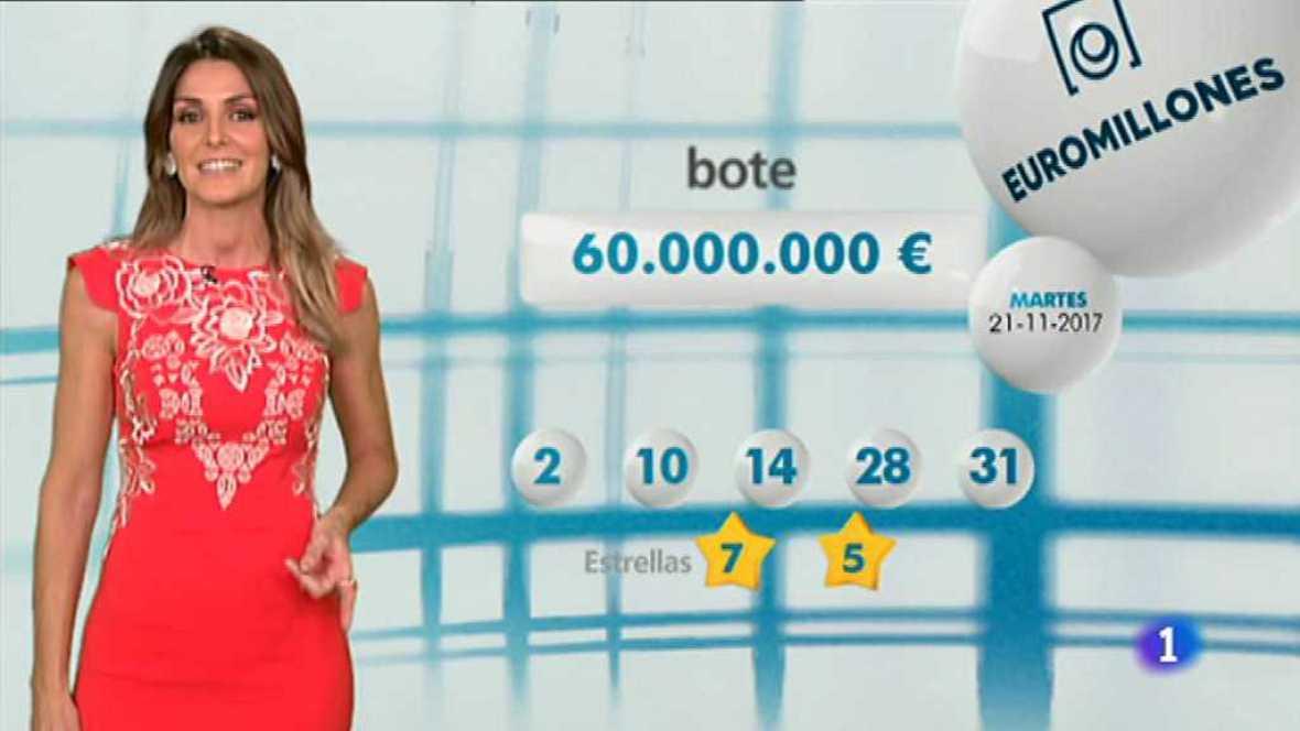 Bonoloto + EuroMillones - 21/11/17 - ver ahora