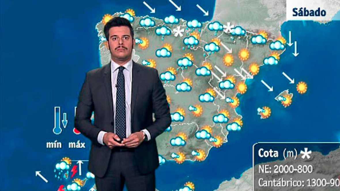 Siete provincias del noreste y de Canarias, en alerta por lluvia y viento