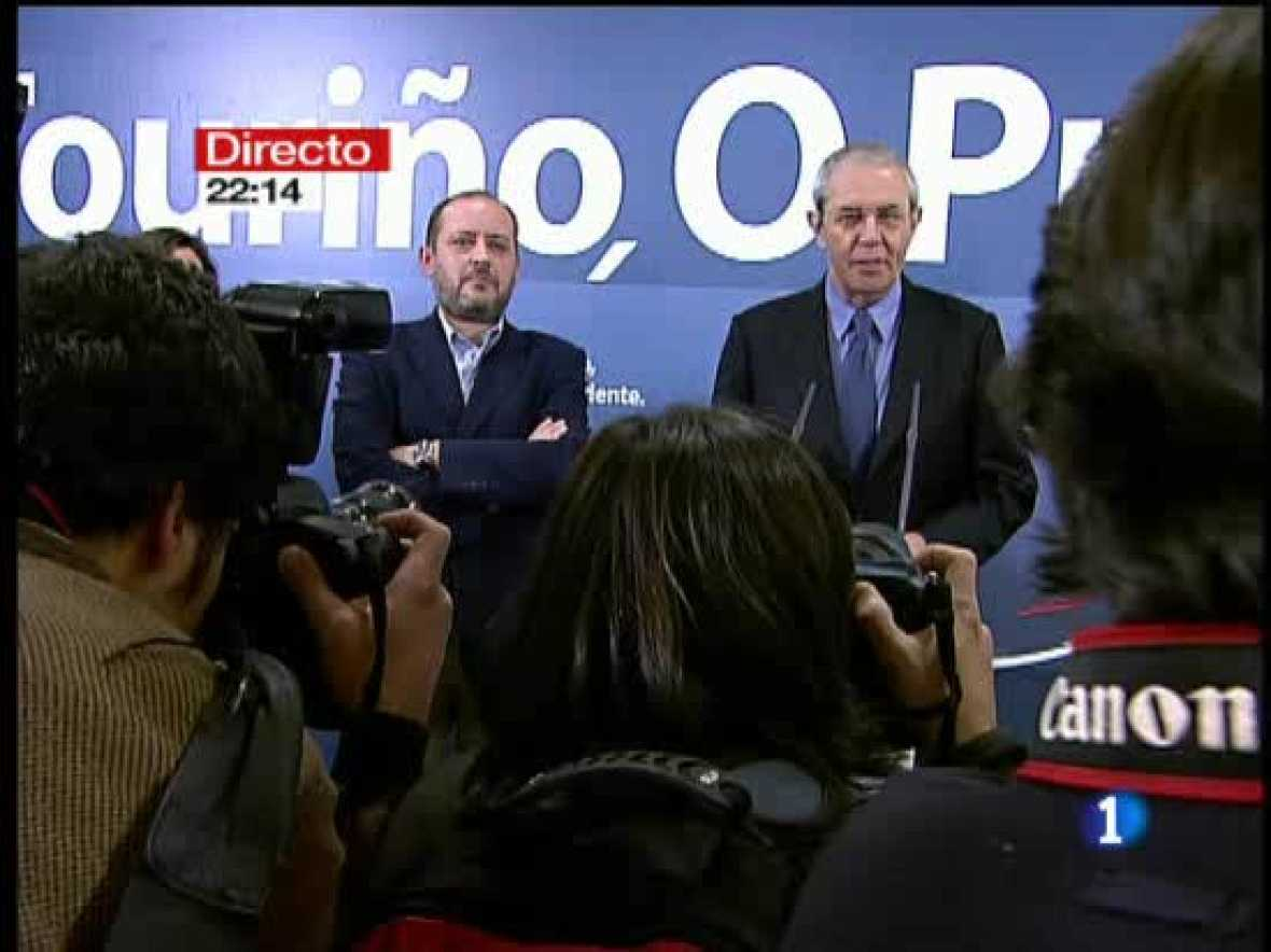 Emilio Pérez Touriño reconoce la victoria del PP