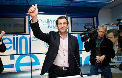 Alberto Nuñez Feijóo obtiene la mayoría absoluta en Galicia