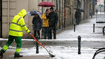 En Cantabria aviso naranja por riesgo importante de  nevadas