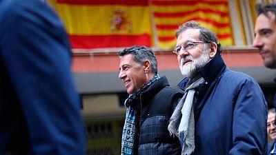 Rajoy ha estado en Mataró  acompañando al cabeza de lista del PP