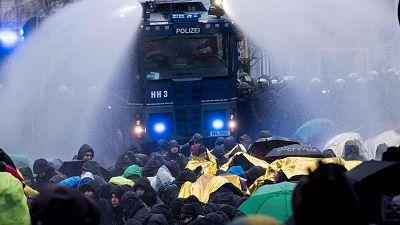 Protestas en Hannover por la celebración del congreso del ultraderechista Alternativa para Alemania