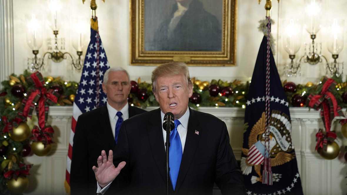 """Trump: """"Es el momento de reconocer oficialmente Jerusalén como capital de Israel"""""""
