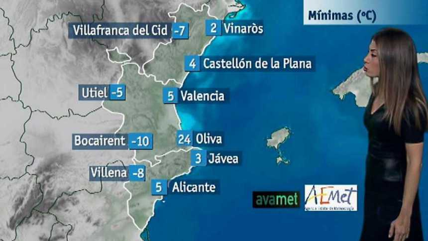 El tiempo en la Comunidad Valenciana - 07/12/17