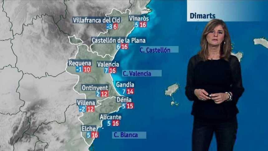 El tiempo en la Comunidad Valenciana - 11/12/17