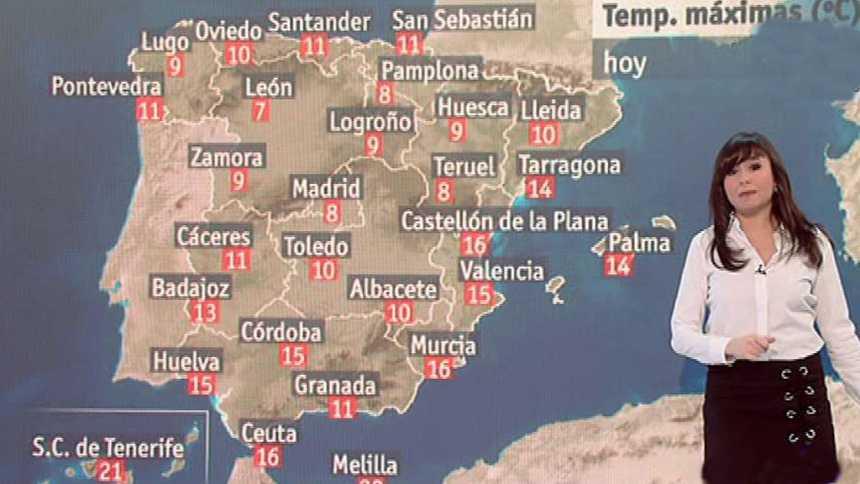 Coletazos del temporal en el norte peninsular y Canarias y bajada de temperaturas en el resto
