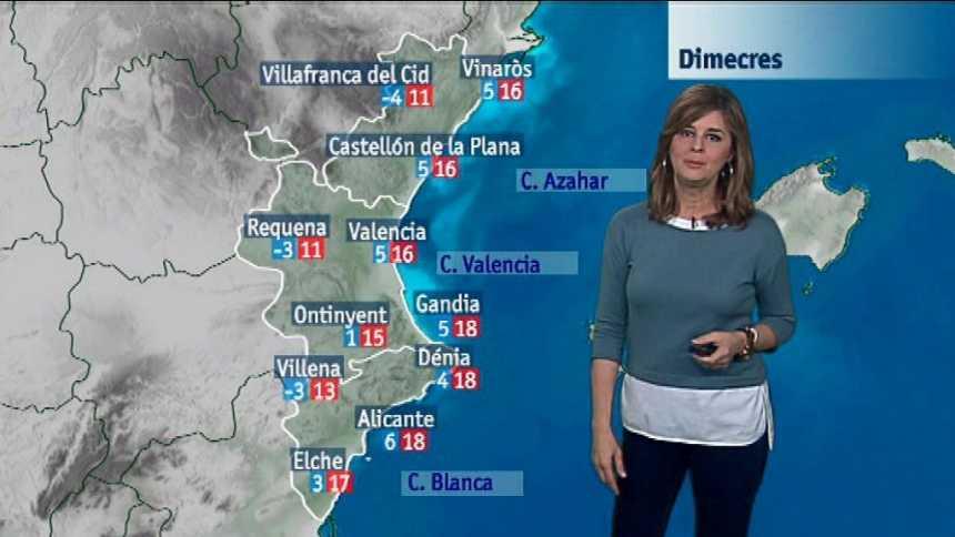 El tiempo en la Comunidad Valenciana - 12/12/17