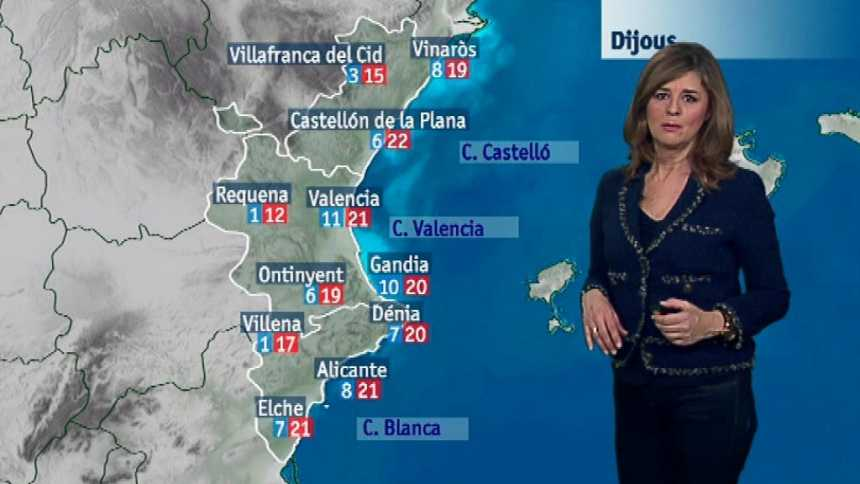 El tiempo en la Comunidad Valenciana - 13/12/17