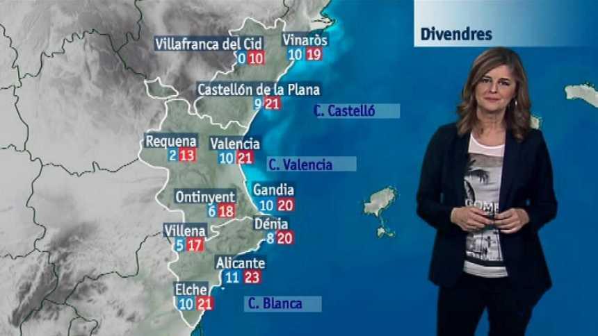 El tiempo en la Comunidad Valenciana - 14/12/17
