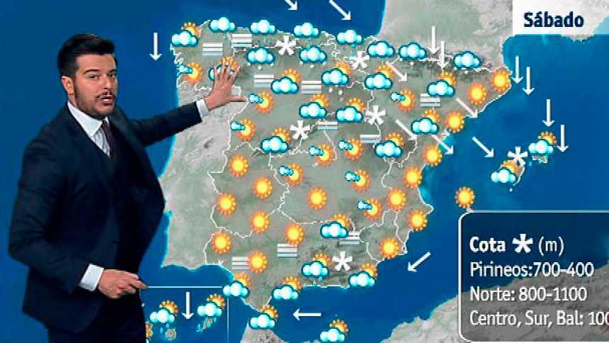 Precipitaciones en el norte peninsular y Canarias y descenso generalizado de temperaturas