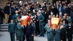 Emotiva despedida en Alcañiz a los dos guardias civiles asesinados