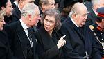 Rumanía ha rendido hoy su último homenaje al rey Miguel I