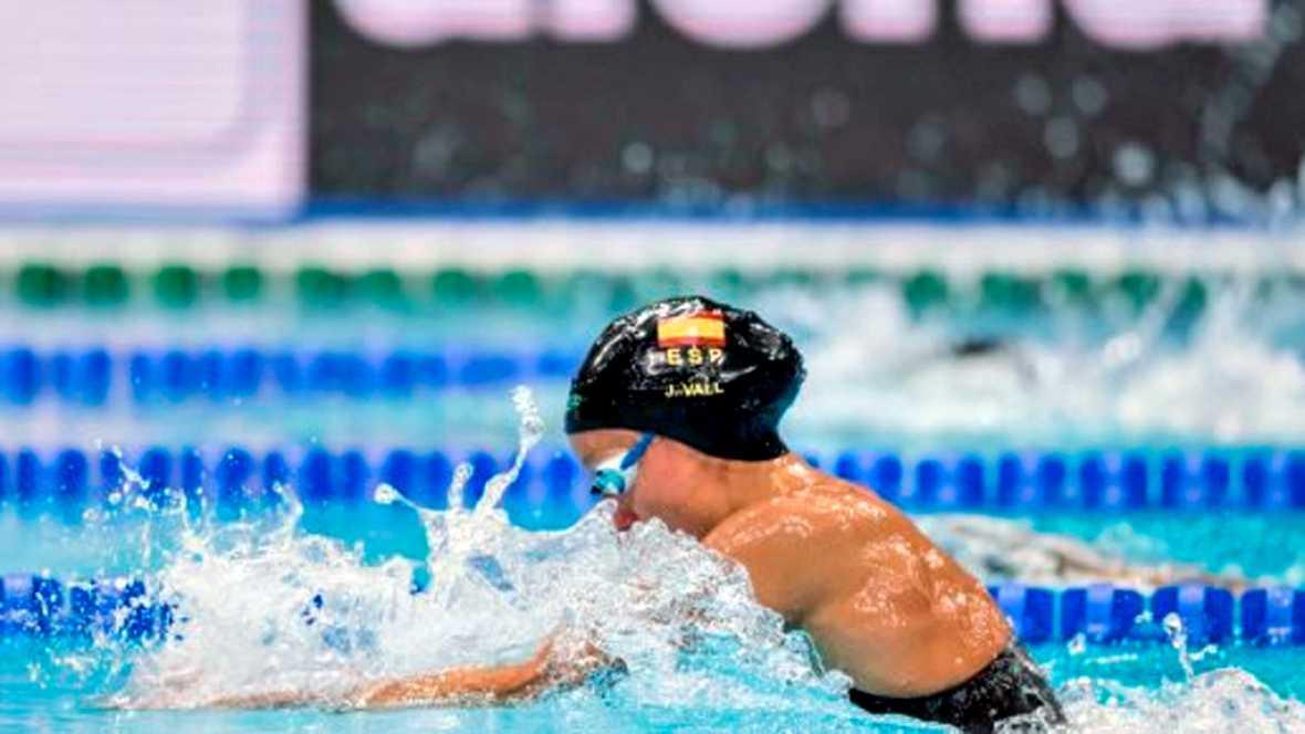 La española Jessica Vall logró su segunda medalla en los Europeos de piscina corta de Copenhague, tras el bronce que logró el sábado en los 100 braza, al colgarse este domingo el oro en la final de los 200 braza.