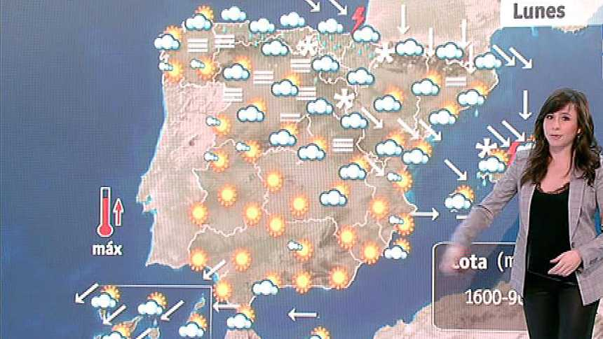 Nieve y lluvia en el norte y Baleares, y heladas en el centro del país