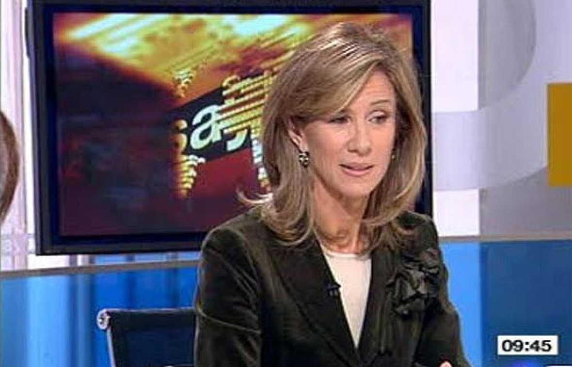 Cristina Garmendia responde a los estudiantes en 'Los Desayunos de TVE'