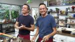 Torres en la cocina - Espárragos, guisantes y erizos y terrina de cochinillo