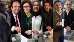 Vídeo - Los candidatos a las elecciones catalanas votan entre largas colas