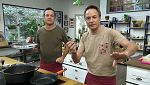 Torres en la cocina - Sopa de pescado y oca con peras