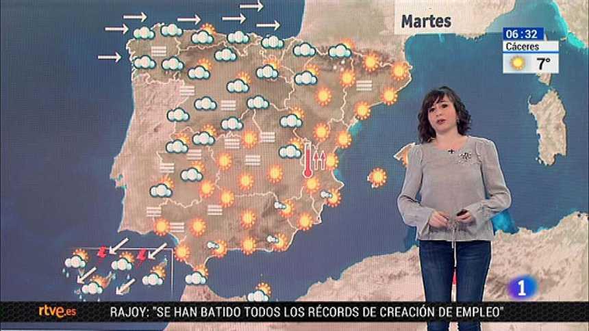 Las lluvias fuertes serán protagonistas este martes en Canarias y débiles en Galicia, Cantabria y Pirineos