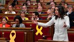 """Arrimadas: """"No se puede empezar saltándonos el reglamento del Parlament"""""""