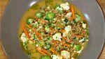 Torres en la cocina - Trigotto con verduras y parmesano