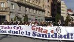 Miles de personas recorren Valladolid en defensa de la sanidad pública