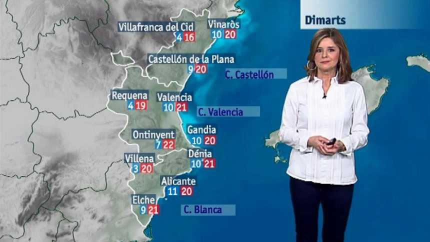 El tiempo en la Comunidad Valenciana - 22/01/18