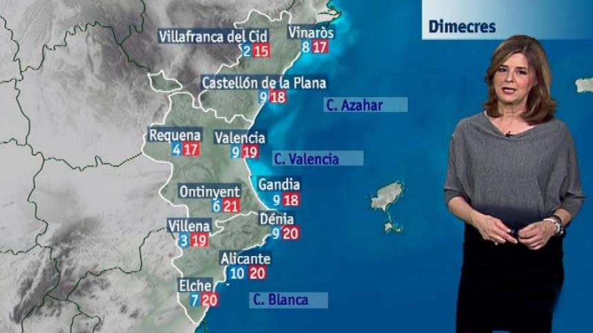 El tiempo en la Comunidad Valenciana - 23/01/18