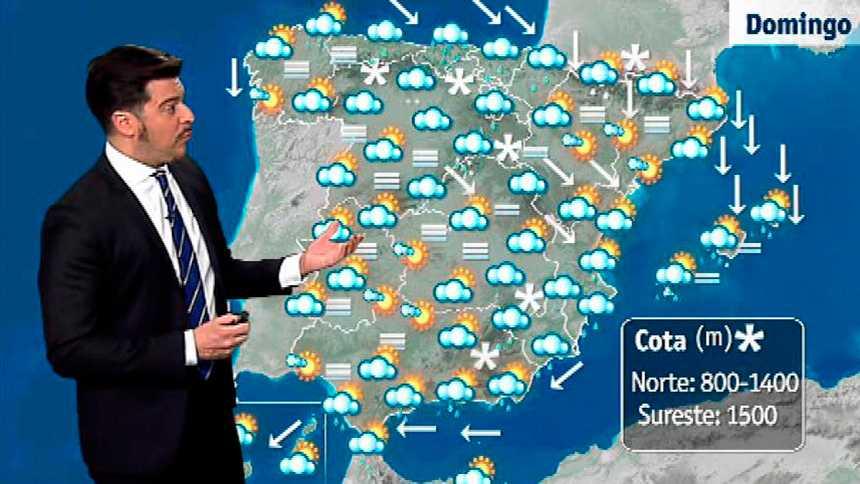 Lluvias en el Cantábrico, este peninsular, Baleares y litoral andaluz