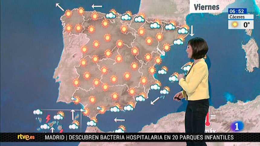 Temperaturas mínimas muy bajas en amplias zonas del interior peninsular