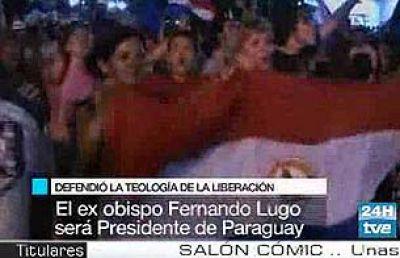 Paraguay celebra la victoria de Lugo