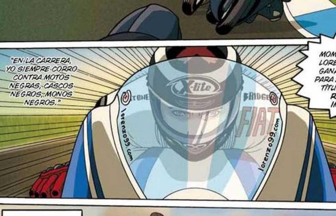 Jorge Lorenzo ha presentado un cómic que se llama 'Lorenzo's Land', como su bandera de conquistas de Grandes Premios.