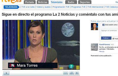 La 2 Noticias, en RTVE.es y Facebook